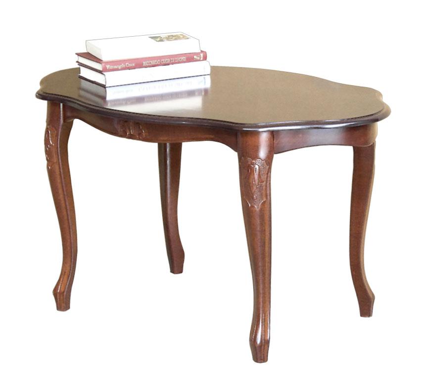 Tavolino ovale in stile 1700, tavolino da salotto ovale legno ...