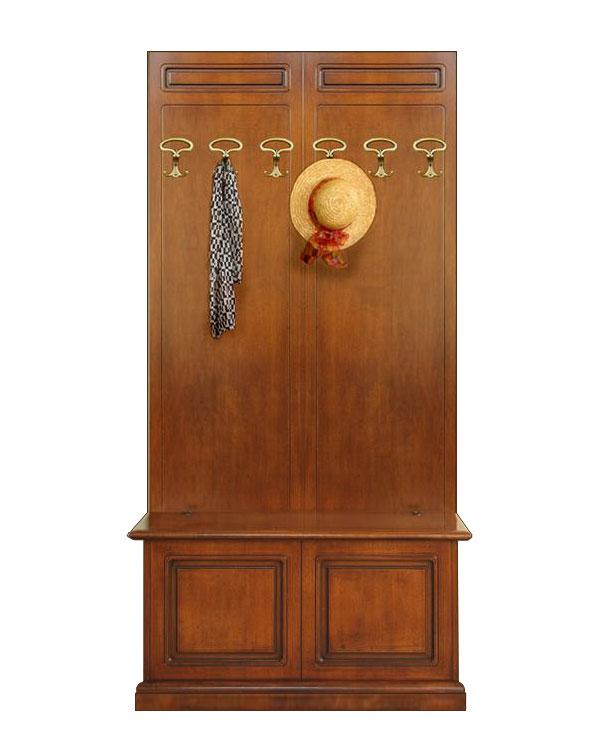 Mobile ingresso in legno composizione cassapanca appendiabiti mobili entrata ebay - Mobili appendiabiti ingresso ...