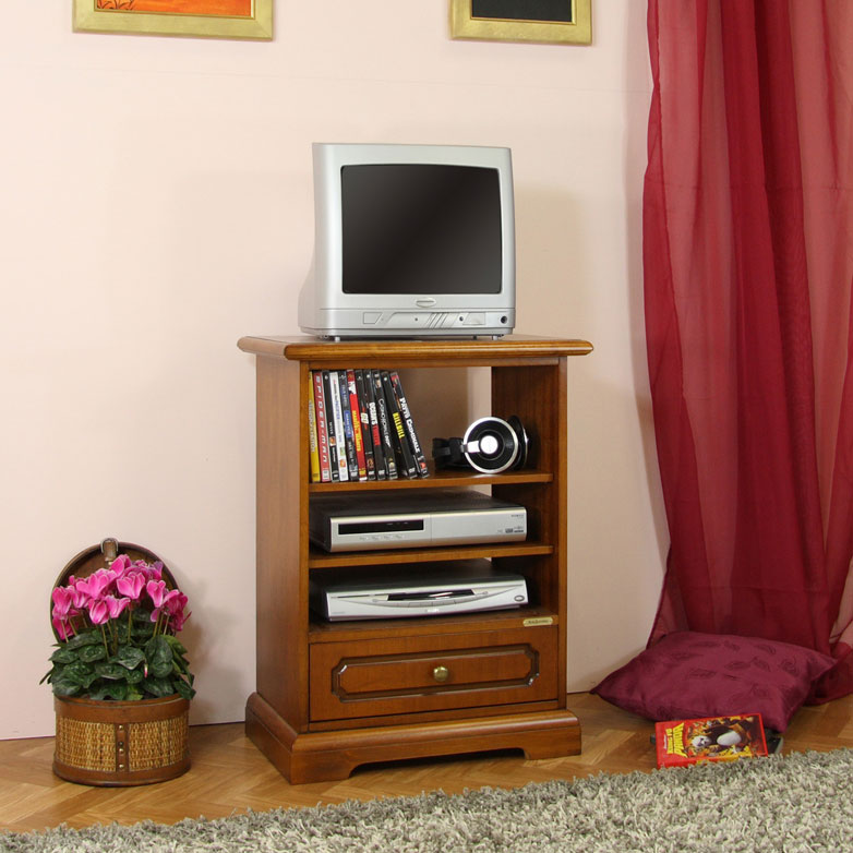 Porta Tv minimo con cassetto e vani - ArteFerretto