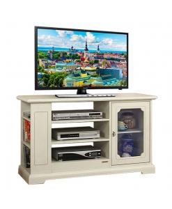 Mobile porta tv in legno con anta a vetro, porta tv da salotto o cucina
