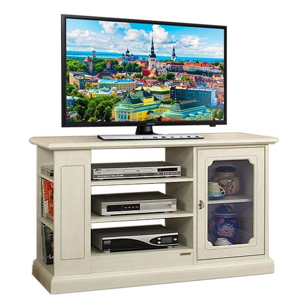 Porta Tv con anta a vetrinetta e scaffali - ArteFerretto