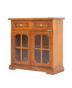 Credenzina piccola da salotto o cucina in stile classico in legno