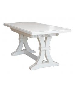 tavolo allungabile, tavolo bianco