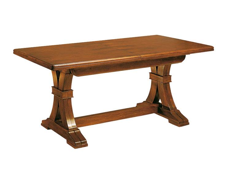 Tavolo allungabile da 180 a 360 cm rettangolare in legno for Tavolo da cucina allungabile rettangolare
