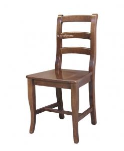 Sedia classica in legno in stile classico, sedia per la cucina o sala da pranzo
