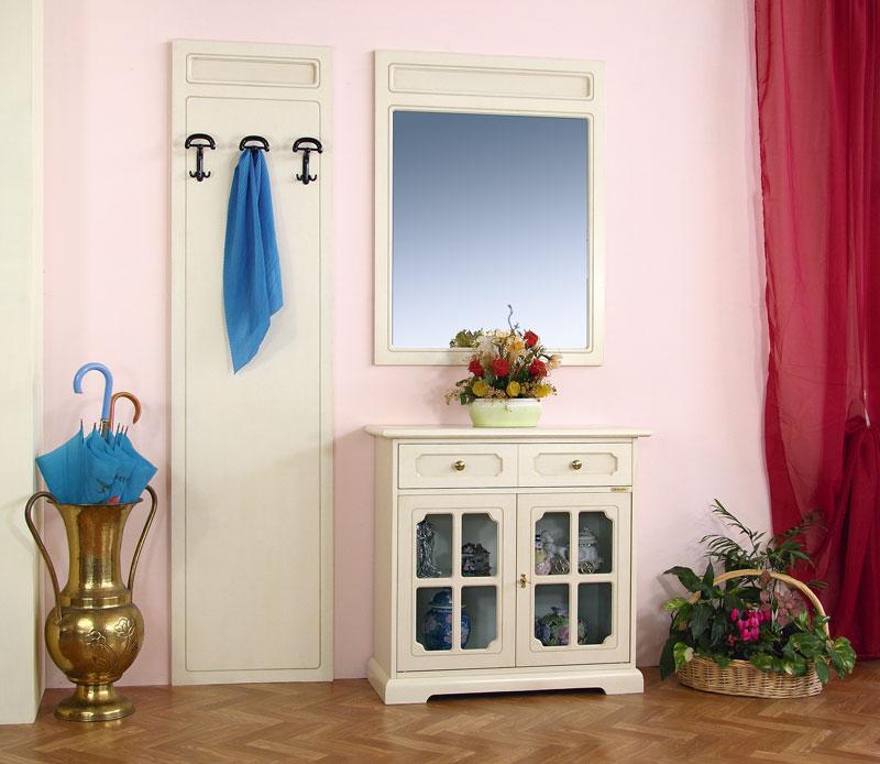Credenza ingresso con specchio e attaccapanni arteferretto - Specchio antichizzato ...