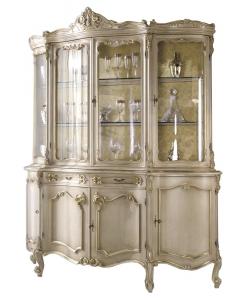 Vetrina cristalliera in stile classico di pregiato valor