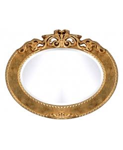 Specchiera ovale versione in foglia oro