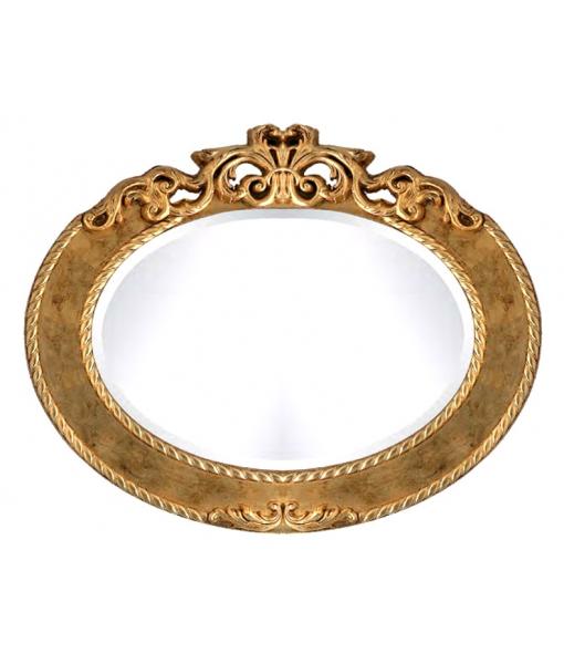 Specchiera ovale versione A: foglia oro, Art. AA-1580
