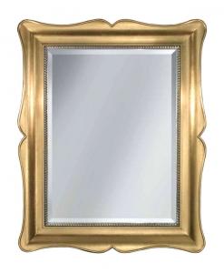 Specchiera classica foglia oro con struttura in legno