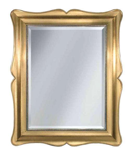Specchiera classica foglia oro con struttura in legno, Art. AA-2130