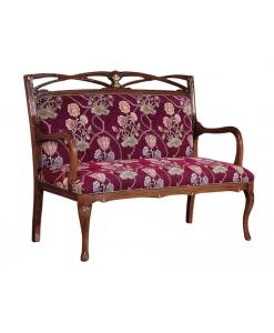divanetto, divanetto in faggio, legno di faggio, divanetto imbottito