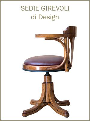 Categoria sedie poltrone girevoli, da ufficio, con rotelle, regolabili in altezza, legno massello di faggio, vera pelle, vasta gamma tessuti