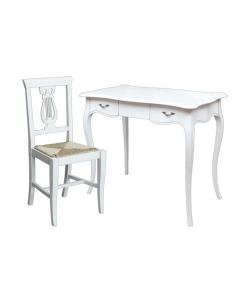 scrittoio, scrittoio laccato, scrittoio con sedia,