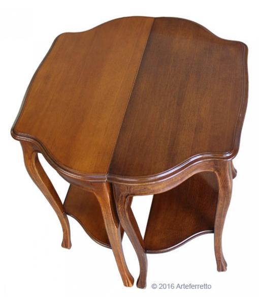 Consolle classica per ingresso, consolle in stile, consolle per ingresso, consolle in legno ciliegio e noce