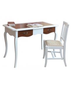 scrittoio bicolore, scrittoio in legno, sedia e scrittoio, mobili per ufficio, scrittoio per stanza studio, scrittoio in legno, scrittoio classico