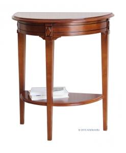 Consolle in legno massello a mezzaluna per l'ingresso o per il salotto