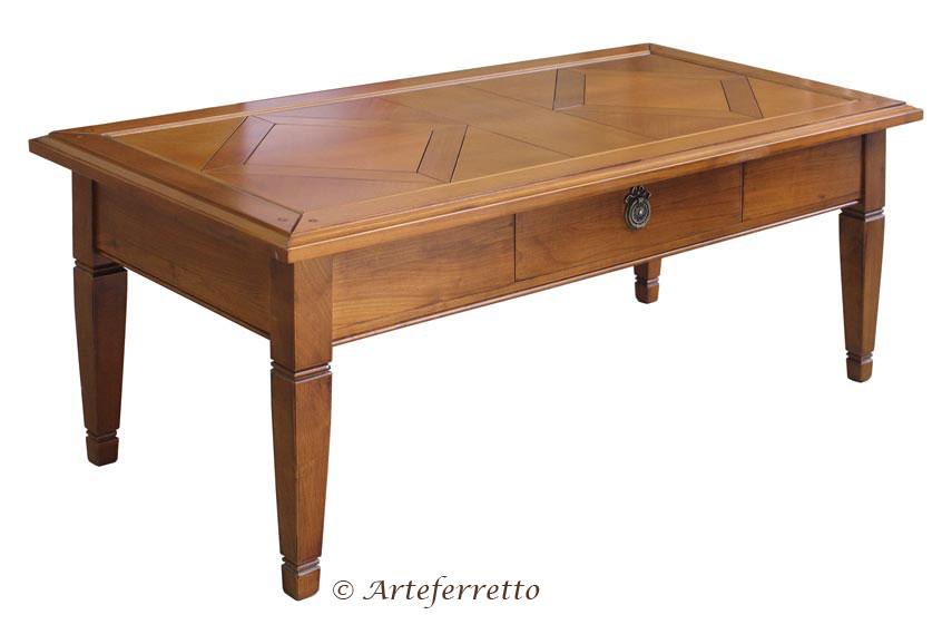Tavolino da salotto in legno ciliegio e tiglio, tavolino basso ...