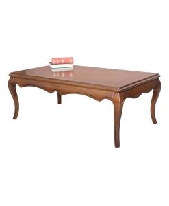 Tavolino rettangolare da salotto linea mordida e gambe sagomate