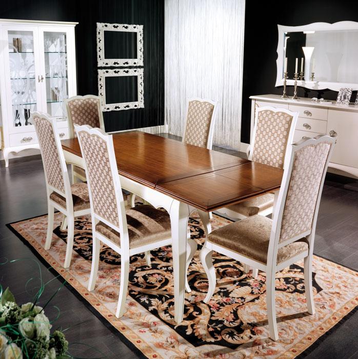 Tavolo rettangolare allungabile 220 cm, tavolo ciliegio e legno ...