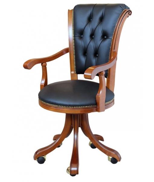 Sedia poltrona per ufficio con ecopelle, cod. articolo: Dinamic