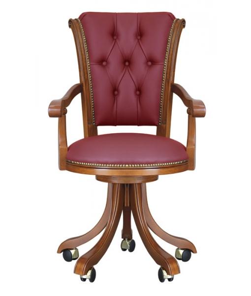 Sedia poltrona per ufficio classica arteferretto for Poltrona scrivania design