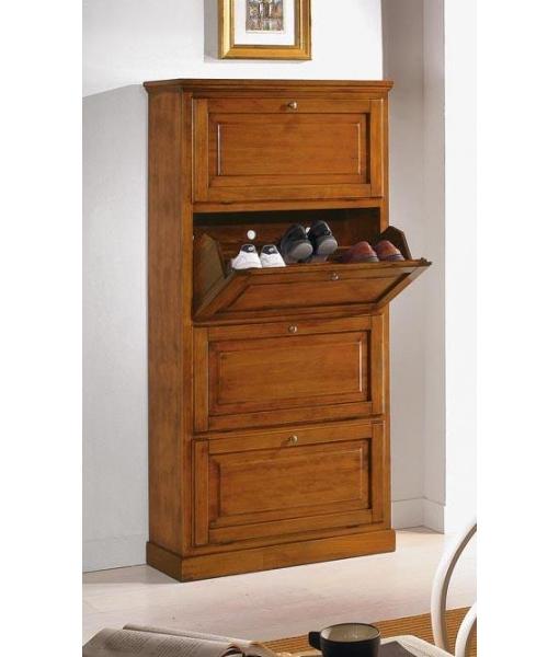 scarpiera classica a 4 ante arteferretto. Black Bedroom Furniture Sets. Home Design Ideas