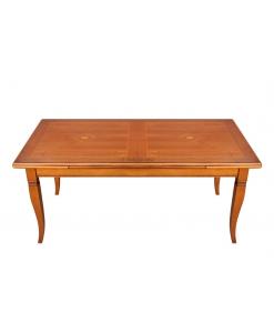 Tavolo in legno da pranzo con allunghe laterali, Art. E-13113