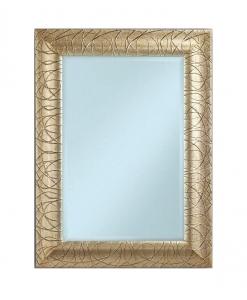 Specchiera foglia oro rettangolare
