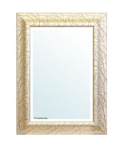 Specchio foglia oro patinato