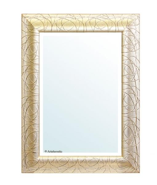 Specchio foglia oro patinato, Art. E-2113