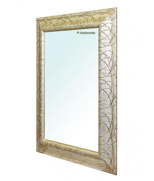 Specchio rettangolare cornice in legno oro