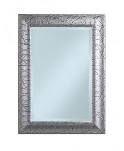 Specchiera foglia argento rettangolare