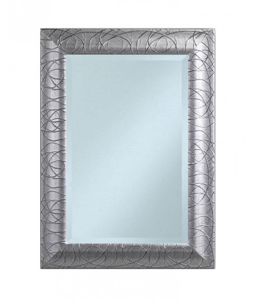 Specchiera foglia argento rettangolare, Art. E-3003
