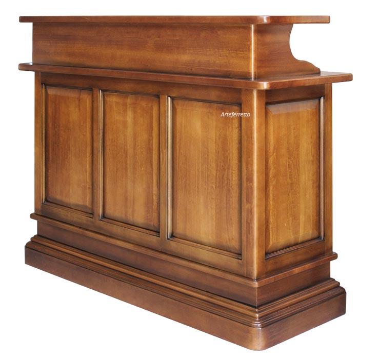 Bancone bar mobile in legno - ArteFerretto