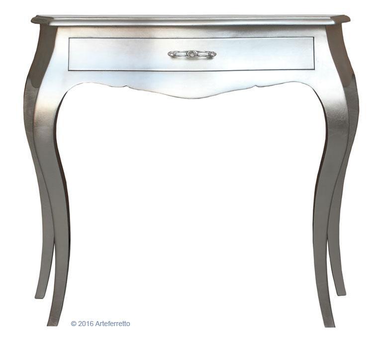 Consolle con finitura foglia argento - ArteFerretto