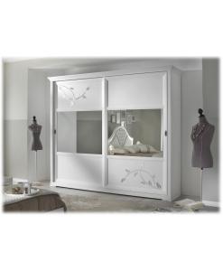 armadio ante scorrevoli, armadio bianco