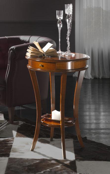 Tavolino classico rotondo arteferretto for Tavoli rotondi classici