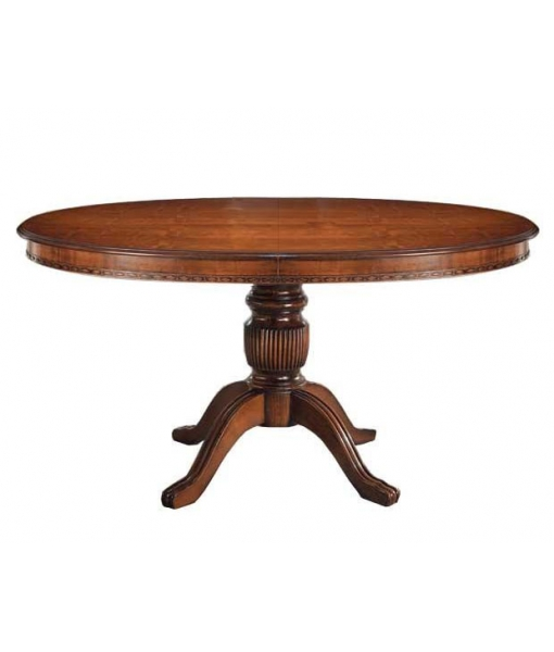 tavolo ovale allungabile in legno, tavolo classico 160 cm