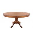 Tavolo ovale allungabile per sala da pranzo, con gambone centrale e allunga a scomparsa