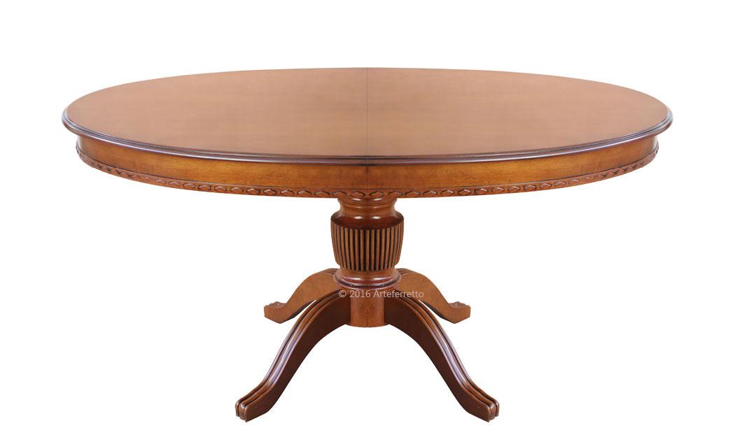 Tavolo ovale allungabile, tavolo legno massello di faggio ...