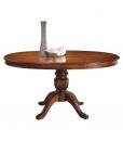 Tavolo allungabile ovale in legno, per la sala da pranzo o cucina