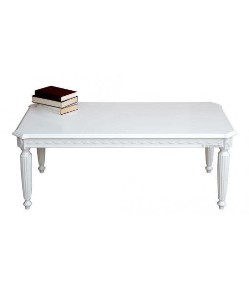 Tavolino rettangolare laccato per salotto