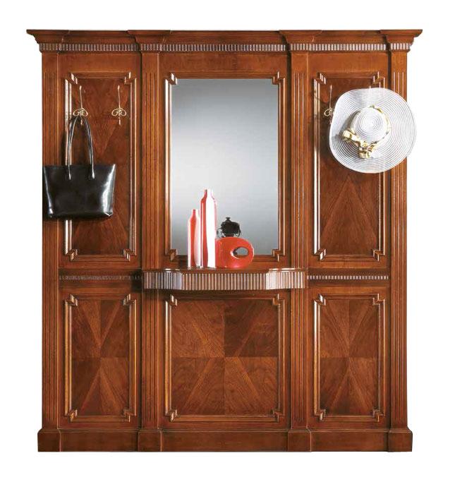 Pannello Appendiabiti Legno Tower : Pannello in legno per ingresso con specchio e