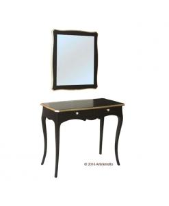 composizione per ingresso, composizione per ingresso nera, consolle nera, mobile per ingresso, specchio, arredo ingresso, arredo soggiorno, mobile nero