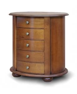 comodino ovale, comodino, comodino per camera da letto, comodino in legno