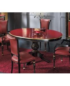 tavolo ovale, tavolo rosso