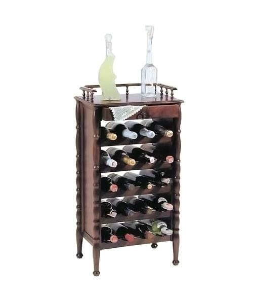 Cantinetta in legno stilizzata arteferretto - Porta vino ikea ...