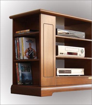 Mobile porta tv classico con vetrinetta - ArteFerretto