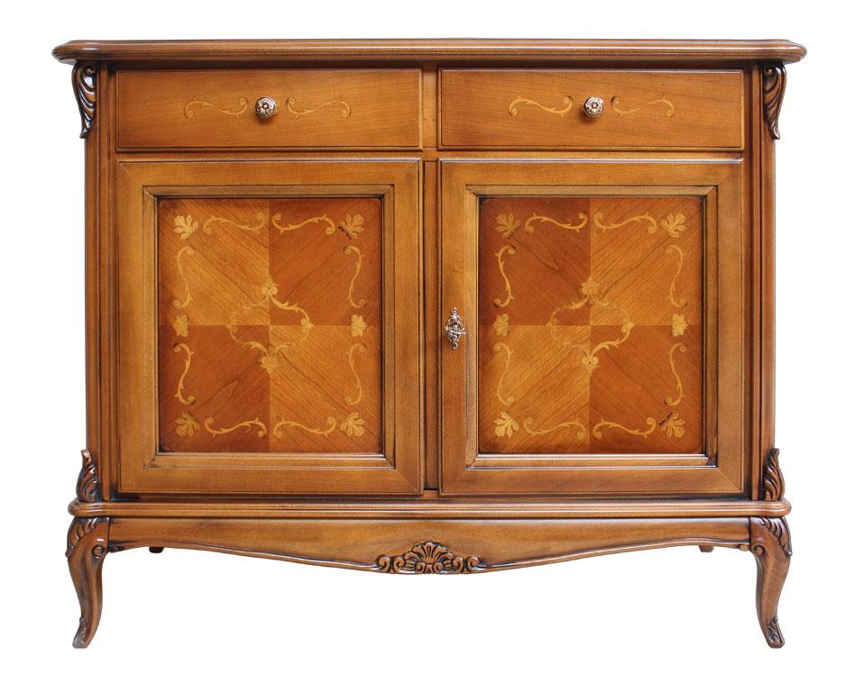 Credenza bassa in legno massello mobile credenza ciliegio - Mobile credenza ...